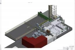 Intergrationsplanung und Koordination der Gewerke für den Bau einer neuen Desodorierkolonne