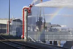 Planning and construction of a fire extinguishing system for the port of Mannheim
