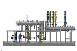 Planning for the reconstruction of an existing thermal oil station